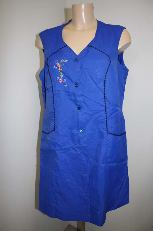 blouse tablier nylon apron bleu de travail t46 46 ebay. Black Bedroom Furniture Sets. Home Design Ideas