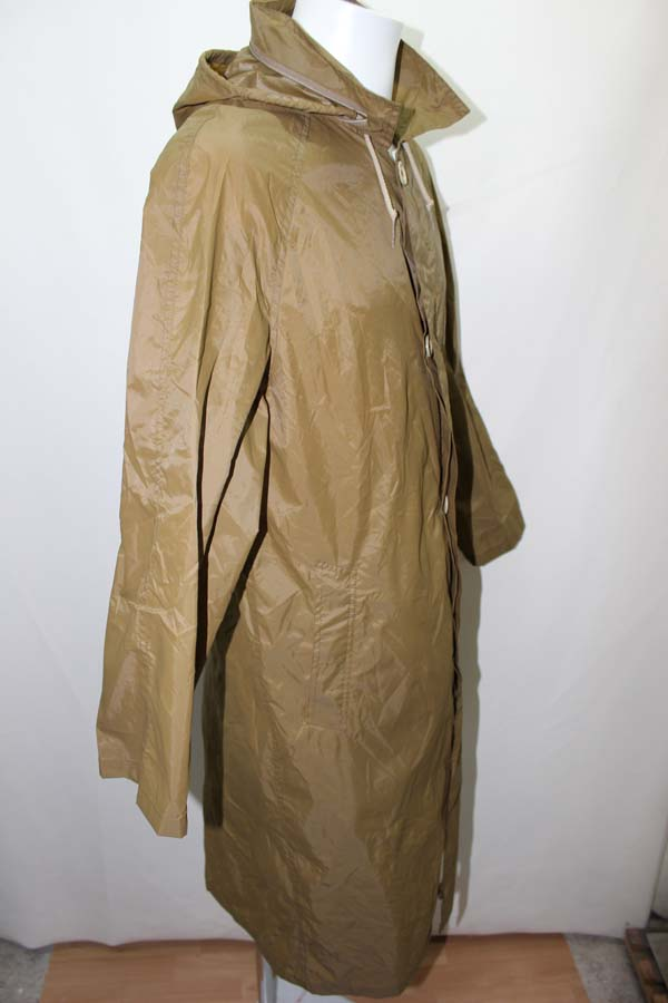 kway long trench en nylon manteau pluie parka imper 40 ebay. Black Bedroom Furniture Sets. Home Design Ideas