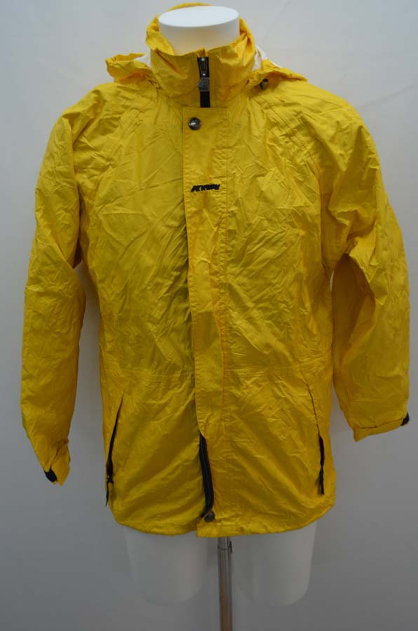kway k way veste nylon jaune pluie parka taille 36 t36 s ebay. Black Bedroom Furniture Sets. Home Design Ideas