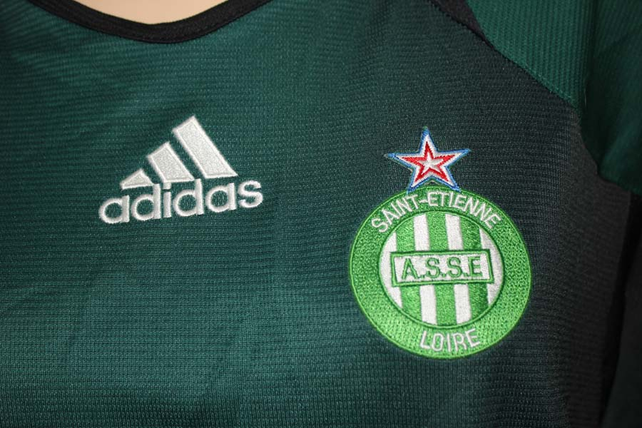 adidas maillot foot as saint etienne taille 46 ancien vert. Black Bedroom Furniture Sets. Home Design Ideas