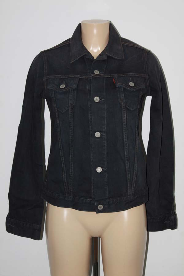 levis blue veste en jean brode aigle m 38 t38 neuve ebay. Black Bedroom Furniture Sets. Home Design Ideas